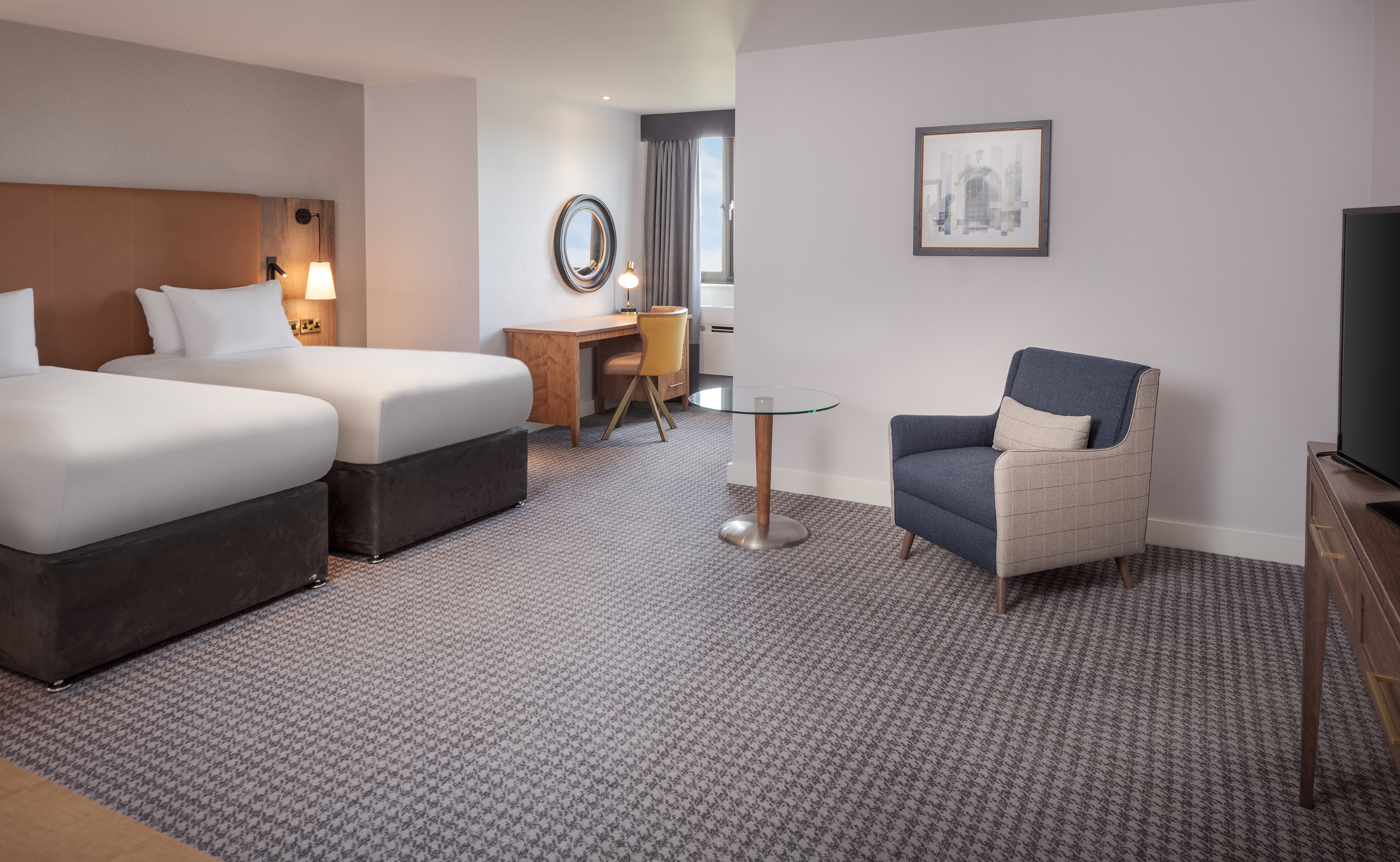 twin bedroom doubletree by hilton oxford belfry